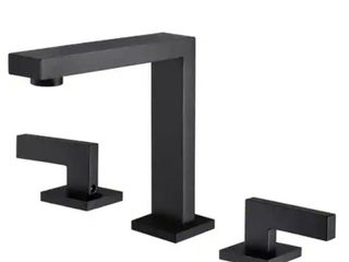 Matte Black Widespread Bathroom Faucet