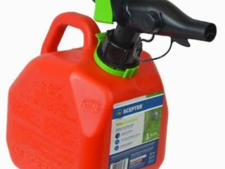 Scepter USA 1 Gallon Plastic Gasoline Can