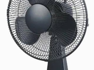 Utilitech 12 in 3 Speed Indoor Black Desk Fan