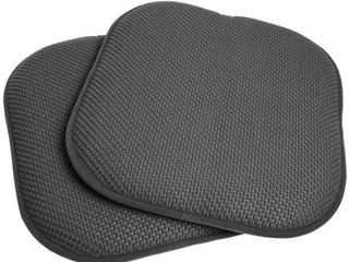 16x16 Memory Foam Chair Pad Seat Cushion Pairs with Non Slip Backing   16 X 16
