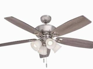 Harbor Breeze  52  Brushed Nickel Indoor Ceiling Fan 0080297 New open box
