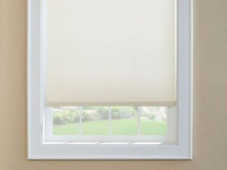 levolor White Room Darkening Cordless Roller Shade  actual  36 5 in X 78 in
