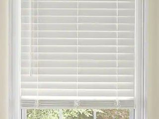lowe s lEVOlOR 2 in Cordless White Faux Wood Blinds  Common  30 in  Actual  29 5 in x 54 in