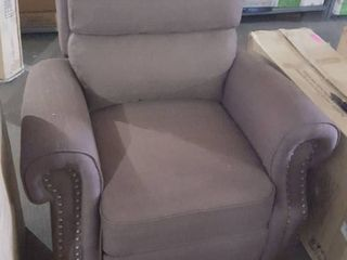 Zoy Home Furnishings co chair brown tufted recliner