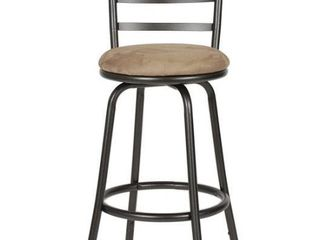 Roundhill Furniture Round Seat Adjustable Swivel Bar Counter Stool 2ct