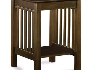Printer Stand Classic Mission Walnut   Atlantic Furniture