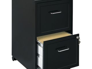 Hirsh Industries Space Solutions File Cabinet on Wheels 2 Drawer   Black