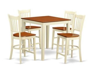 5 PC counter height Table and chair set pub Table and 4 counter height Chairs