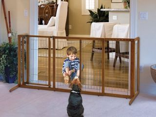 Richell Deluxe Freestanding Pet Gate with Door  Medium