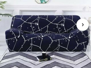 Anova Home Dark Blue Elegant Polyester Couch Cover