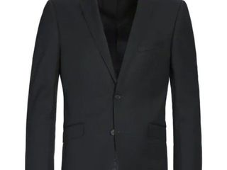 NanoTech Waterproof 100  Virgin Wool Slim Fit 2 Piece Suit 2 Button in Black  Retail 169 99