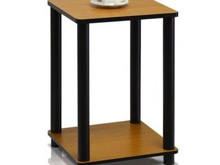 Furinno Turn N Tube Haydn End Table  light Cherry Black