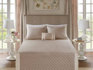 Madison Park levine Cotton Percale Tailored 4 piece Bedspread Set  Retail 113 99