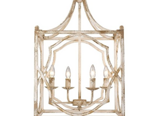 laurent 4 light Pendant in Antique Ivory