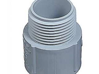 Thomas   Betts E943K Gray PVC Adapter 2 1 2 Inch Carlon