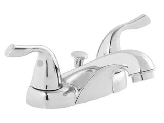 Project Source Two handle Bathroom Faucet  Chrome Finish  4  Mount 0857545