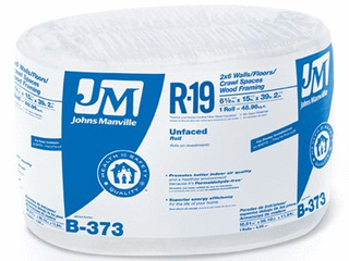 John Manville 90003721 R19 15 inch x 39 ft  2 inch Unfaced Roll