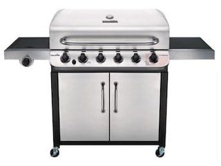Char Broil Performance Stainless 6 Burner liquid Propane Gas Grill with 1 Side Burner