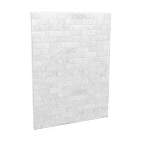 MAAX Utile Marble Carrara Shower Wall Surround Back Wall Panel  Common  60 in x 3 in  Actual  80 in x 60 in x 1 125 in