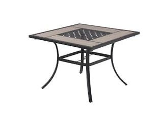 Elliot Creek Steel 40x40 in Tile Top Dining Table