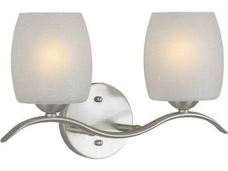Forte lighting 5251 02 Brushed Nickel 2 light 15  Wide Bathroom Fixture