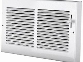 Accord AB3BRWH126 Baseboard Register with 1 3 Inch Fins louvered Design  12 Inch x 6 Inch  White