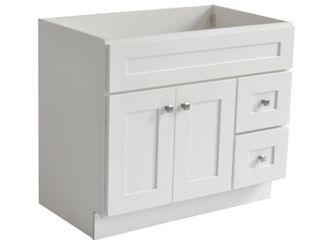 Design House 559039 Brookings Unassembled 2 Door 2 Drawer Shaker Vanity 36x31 5x21  White