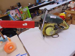 24  Bar   Outdoor Products Chainsaw   Vintage   Has Compression