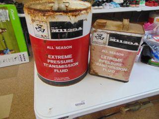 2 Massey Ferguson Fluid   Cans