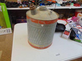Galvanized 5 Gallon Can
