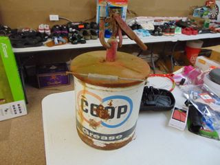 5 Gallon Co Op Grease Can with Pum