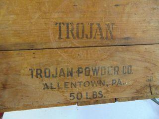 Trojan Powder Company 50lb   Crate