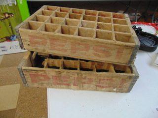 2 Wooden Pepsi Crates