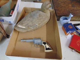 Paper Mache Duck Decoy   Hubley Cap Gun