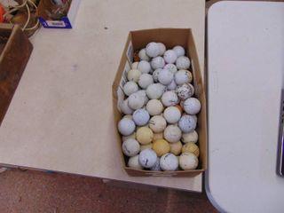 Box of Miscellaneous Golf Balls - 75+ ???