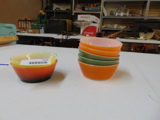 5   Pyrex and 2   FireKing Cereal Bowls