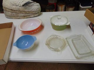 Pyrex and Corning Ware Miscellaneous   Bowls   lids