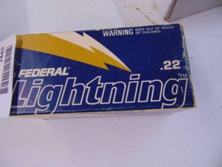 500 Rounds    22 long Rifle Federal lighning