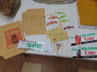 Miscellaneous Vintage Soda Paper Goods