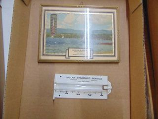 Skelly Thermometer and Standard Oil Rain Gauge