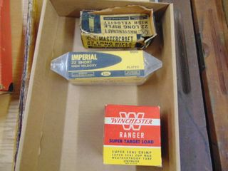 Vintage 22lR and Winchester Shotgun Shell Boxes only