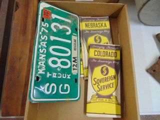 Sovereign Service maps and license plate