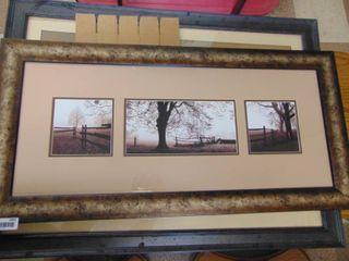 large Framed   3 landscape Pictures