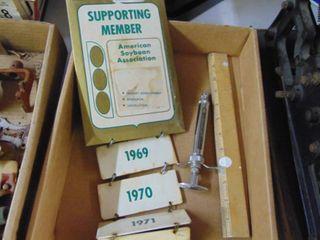 American Soybean Association Awards Plaque   veterenerian Syringe