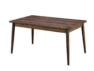 Furniture Of America Eindride Natural Wood Finish Rectangular Dining Room Table