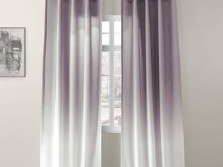 Exclusive Fabrics   Furnishings Ombre Semi Sheer 50  x 96  Curtain Panel 2 pc