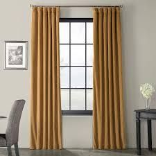exclusive fabric furnishings faux linen blackout doublewide curtain collection 1 pc