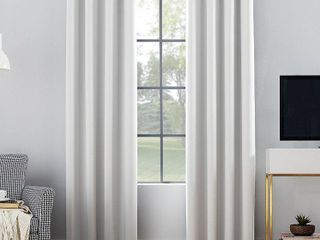 84 x52  Oslo Theater Grade Extreme Blackout Grommet Top Curtain Panel White   Sun Zero be 2 pc