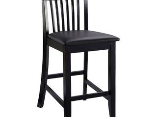 Torino Craftsmen 24  Counter Stool Hardwood Black   linon