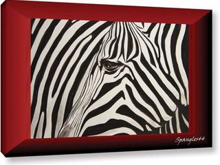 lindsey Janich  Zebras Abstract  Gallery Wrapped Canvas  Retail 147 99